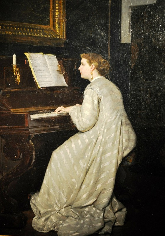 TABLEAU FEMME AU PIANO